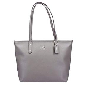 CITY ZIP TOTE IN CROSSGRAIN LEATHER F58846